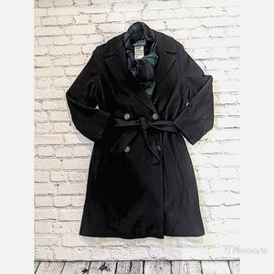 Harve Benard Mid-length belted wool coat